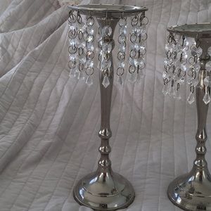 Accents - Silver candle holders